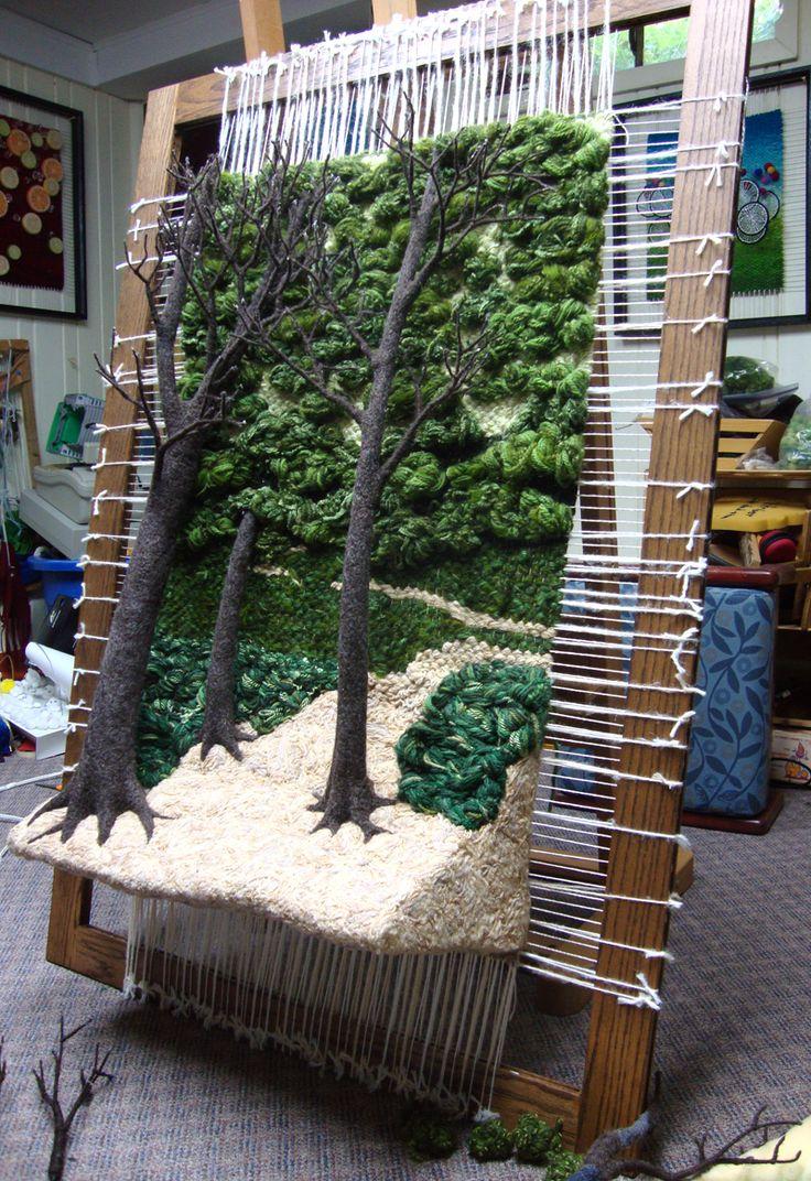 Dimensional Weaving - Martina Celerin 3D fiber art: May 2012