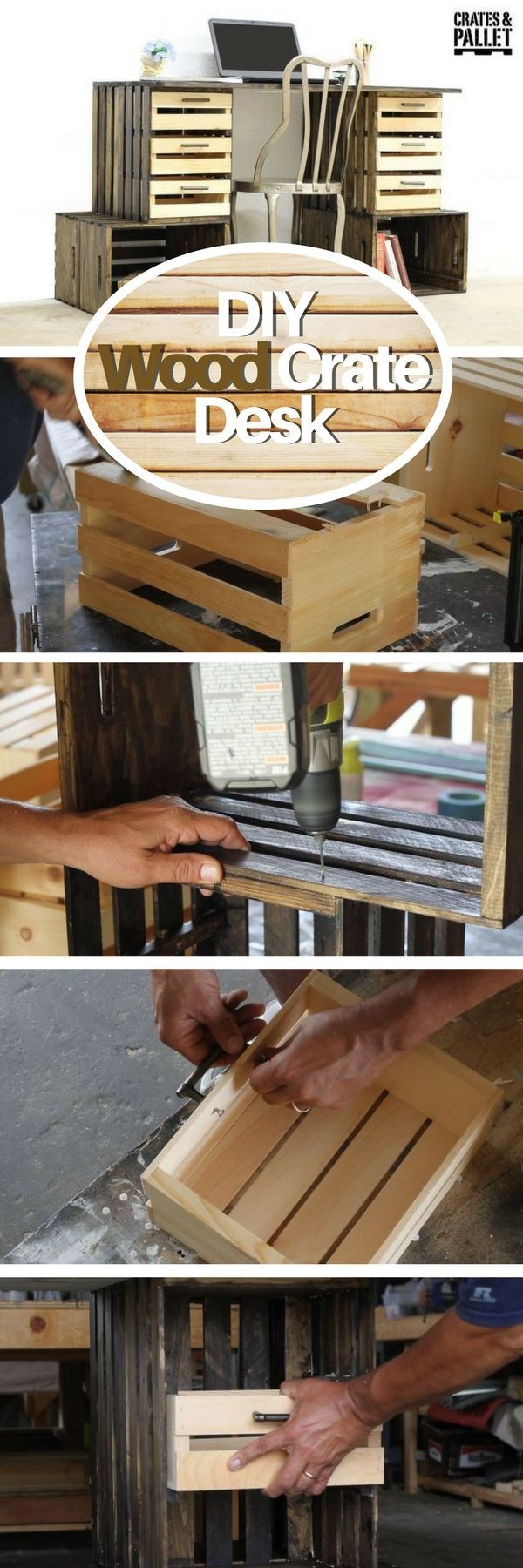 Check out how to build a DIY desk from wood crates @Industry Standard Design