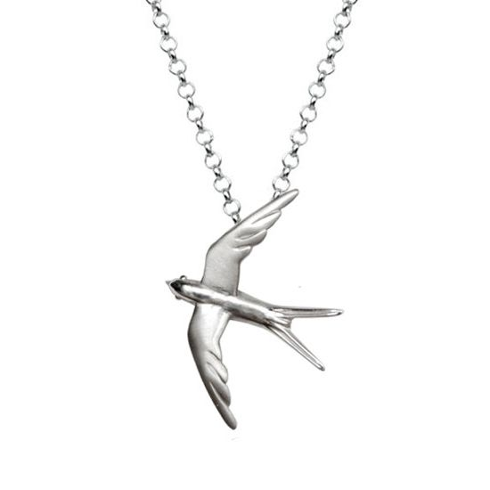 Swallow - Silver Neckalce  #swallow #necklace #silver #sun #holidays #Greece #gift