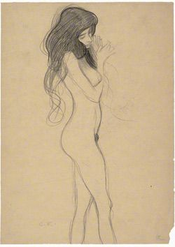 Nude - sketch by Gustav Klimt for the Beethoven frieze in Vienna