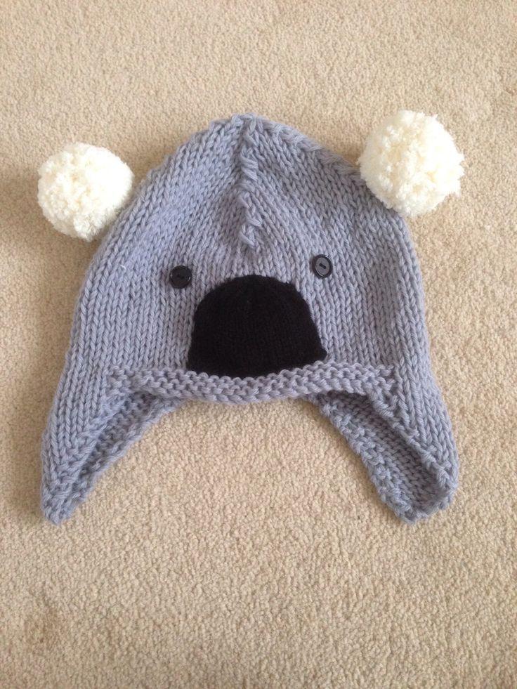 Koala Hat Knitting Pattern Free : Knitted Koala hat by Helen Cole Things Ive made ...