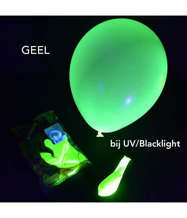 UV Neon ballon - licht op bij blacklight