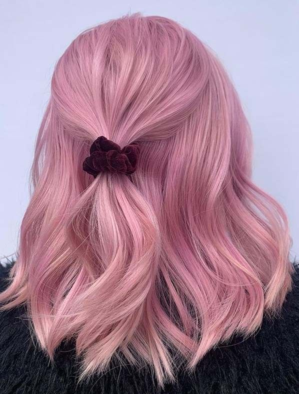 Modern Pink Hair Color Ideas For Medium Hair In 2020 In 2020 Hair Accessories Braids Medium Hair Styles Hair Styles