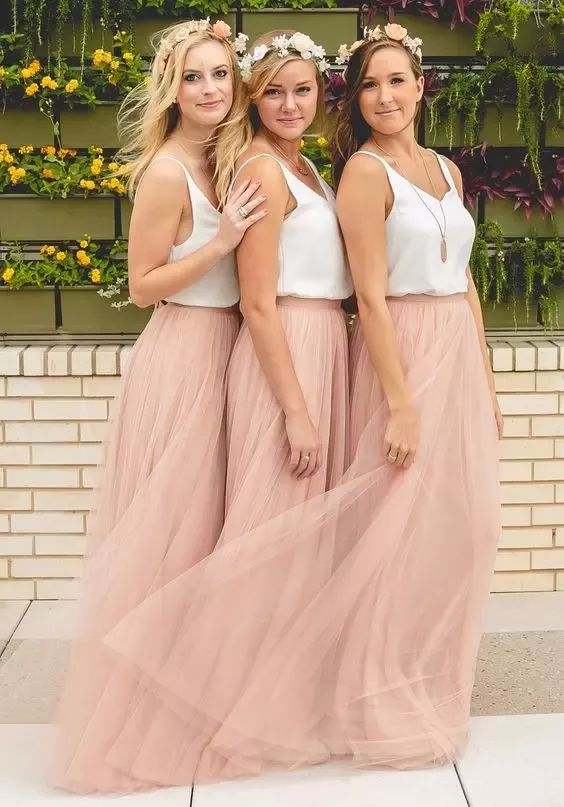 2018 Hot Cheap Bridesmaid Dresses Tulle Skirt Blush Prom Dresses/Bridesmaid Maxi Skirt Evening Party Gowns Mermaid Bridesmaid Dresses Navy Blue Bridesmaid Dress From Weddingmuse, $50.86| Dhgate.Com