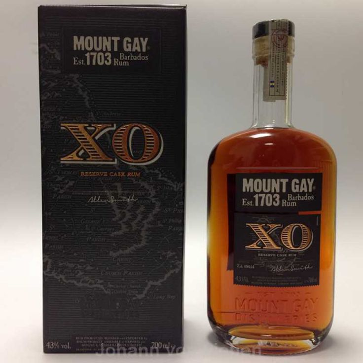 Mount Gay XO Extra Old Reserve Cask  Rum. Rum aus Barbados.