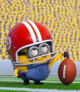 How far can the football playing minion travel? it's definitely football season!