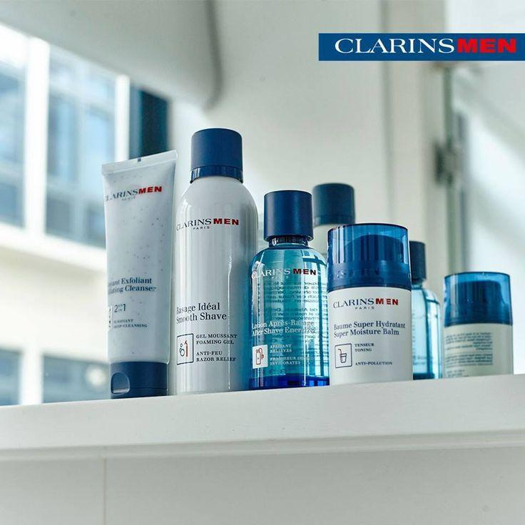 A pele deles também necessita de hidratação para enfrentar as mudanças de temperatura. Cuidados essenciais ClarinsMen disponíveis na Espuma de Sabão!!