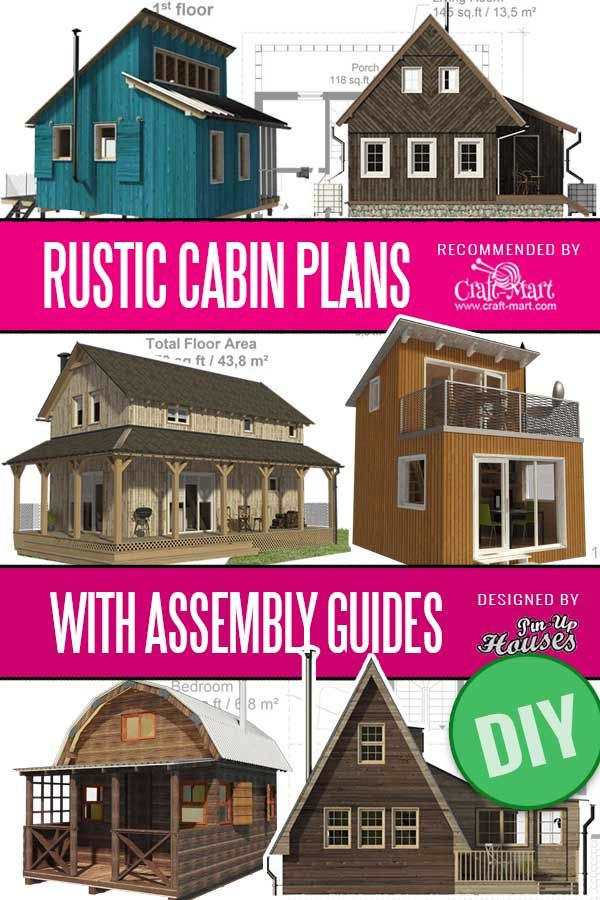 Cute Small Cabin Plans A Frame Tiny House Plans Cottages Containers Craft Mart In 2020 Small Cabin Plans Cabin Plans Rustic Cabin