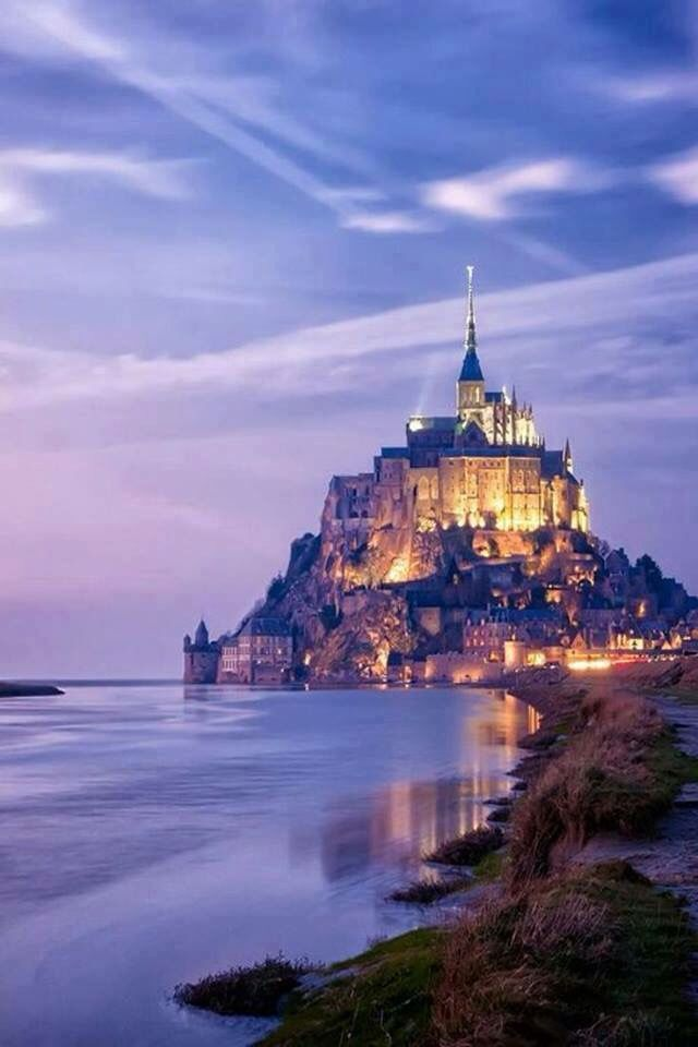 Castle on the Mont Saint-Michel, France.