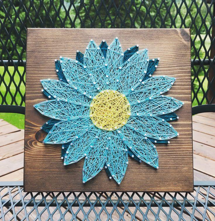 Gerbera Daisy String Art Gerber Daisy Flower Order From Kiwistrings On Etsy Www Kiwistrings