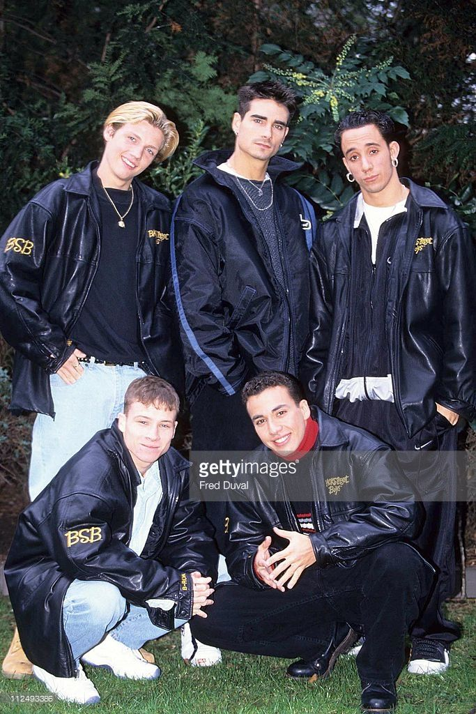 The Backstreet Boys during The Backstreet Boys in London - February 1, 1996 in London, Great Britain.
