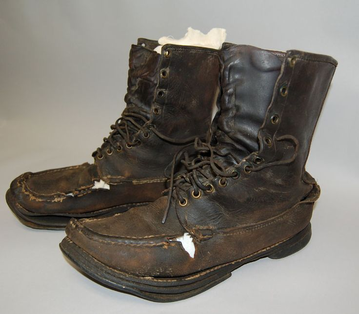 Earl Shaffer's Hiking Boots - first to walk the entire length of the Appalachian trail.  He wore these shoes the entire 2000 mile hike.  They were resoled twice.