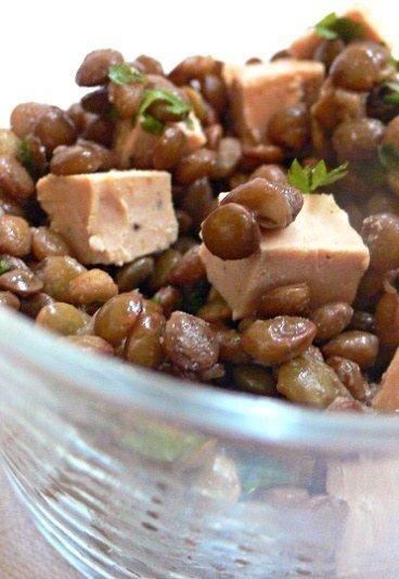 Lentilles au foie gras : recette de lentilles au foie gras, foie gras pour Noël - Repas de Noel: recette repas Noel, menu noel à l'avance