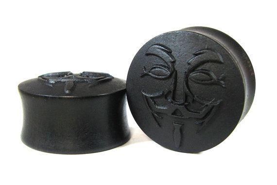 GUY FAWKES Ear Plugs/Gauges/Ear Stretchers size by ORTOPLUG