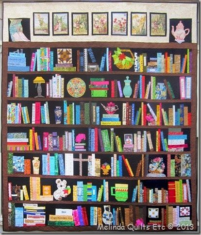 Full Photo of Claudia's Bookcase Quilt - Melinda Quilts etc