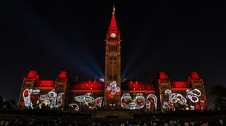 "Sound and Light Show on Parliament Hill - Northern Lights - Ottawa Tourism ""This show is the story of Canada, our story. Set against the spectacular backdrop of Parliament Hill, it takes the audience on an unforgettable journey of sound and light. Don't miss this free, bilingual show, presented nightly in Canada's Capital from July 10 through September 12, 2015. """