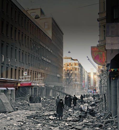 Two Faces of Helsinki photography exhibition/Kasarminkatu