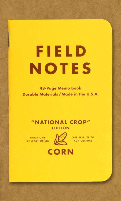 a href=http://fieldnotesbrand.com/crop/Field Notes National Crop Edition - Corn/a