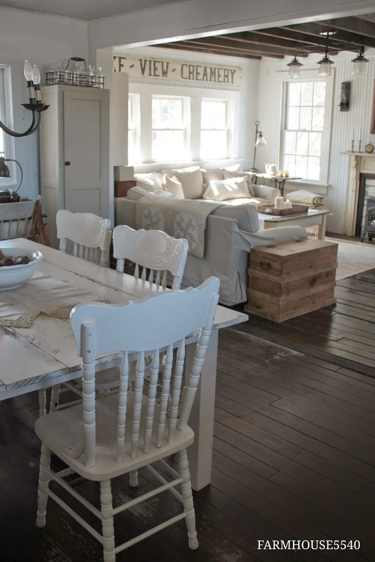 FARMHOUSE 5540: Farmhouse Friday ~ What Farmhouse Style Means to Me I know where I've seen this all before: in the 80's, only not white washed! This is what every Country Living magazine looked like for 10years. Just with color. And it was often more primitive!