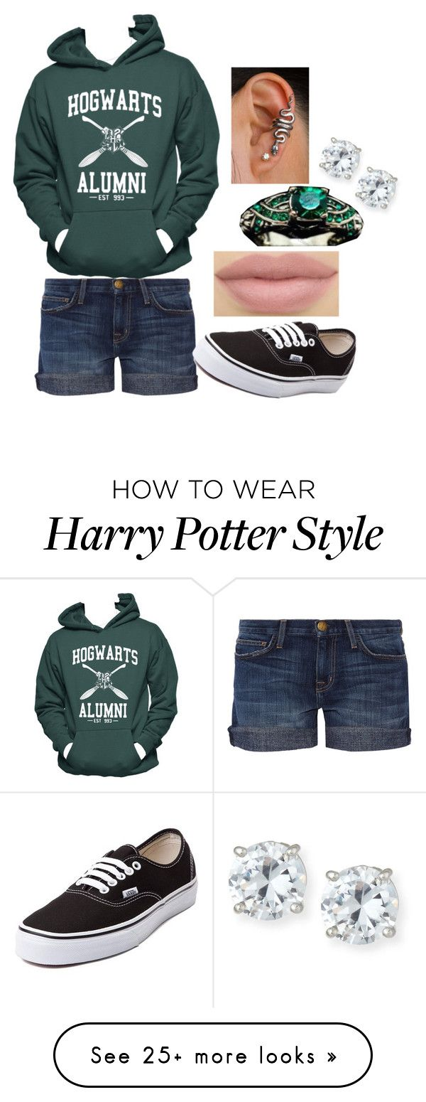 """""""Untitled #351"""" by amyraines-1203 on Polyvore featuring Lisa Freede, Hanes, Current/Elliott and Vans"""