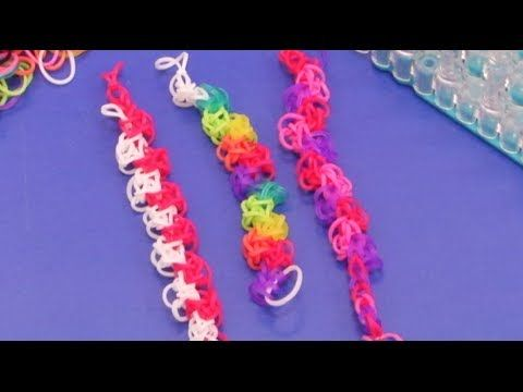"""Rainbow Loom BACK & FORTH Bracelet. Tutorial by Mastermind Toys. Click photo for YouTube tutorial. 02/27/14. Design found in the """"Totally Awesome Rubber Band Jewelry"""" book."""