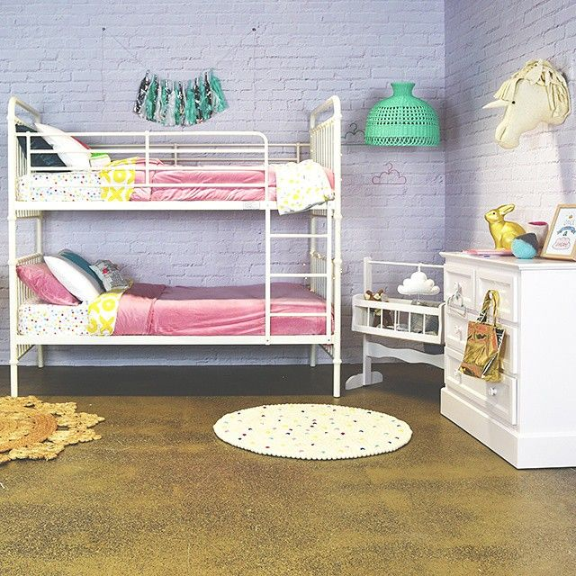 Parenthood Furniture Loft Metal Bunk - as styled by Belinda from Nest Design Studio. Tinitrader tinitrader.com.au #kidsbedroom #kidsdecor #TTStyleSeries #tinitrader