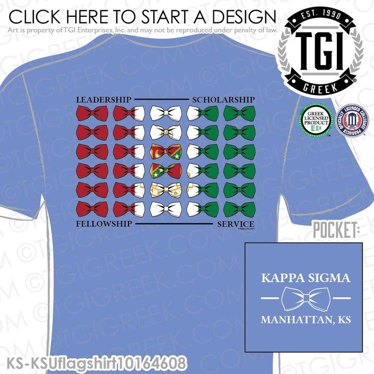 Kappa Sigma | K-Sig | ΚΣ | Fraternity PR | Bowtie | Flag | Fraternity PR Tees | Custom Fraternity Apparel | TGI Greek | Greek Apparel | Custom Apparel | Fraternity Tee Shirts | Fraternity T-shirts 6m