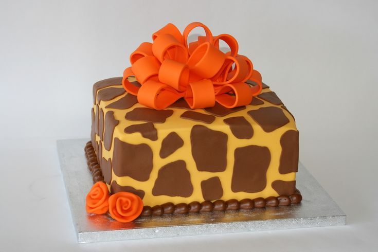 Birthday Cakes Images, Giraffe Cake Animal Print Cupcake Ideas A Single Tier Themed On Central: