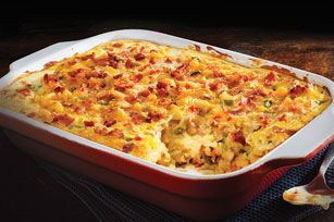VELVEETA® Cheesy Bacon Brunch Casserole recipe -- can also use Cheddar Cheese