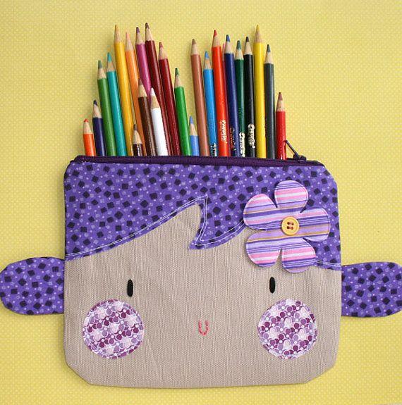 Purple Hair zipper pouch