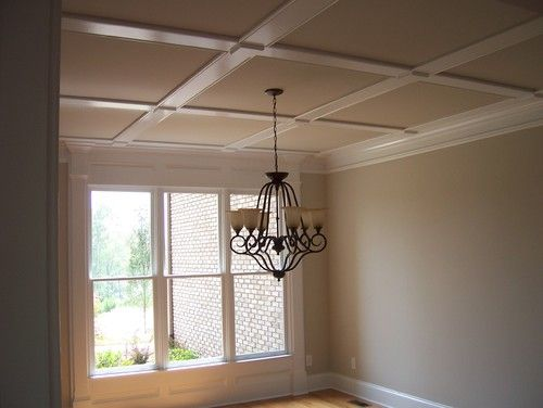 Coffered ceiling with slim boards ahb custom home builders for Custom ceiling designs
