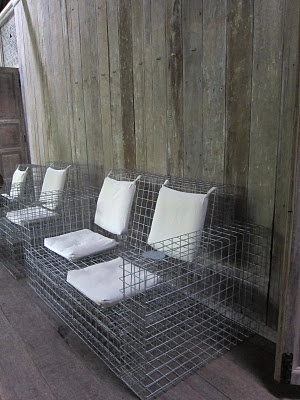 wire mesh chairs (via #spinpicks)