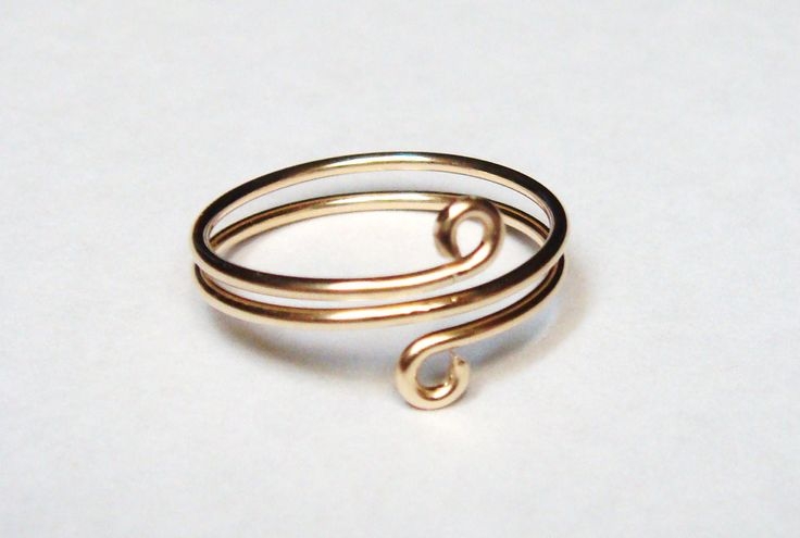 14K Gold Wire Wrapped Ring or Toe Ring - 14K Gold Ring - 14K Gold Toe Ring. $19.00, via Etsy.