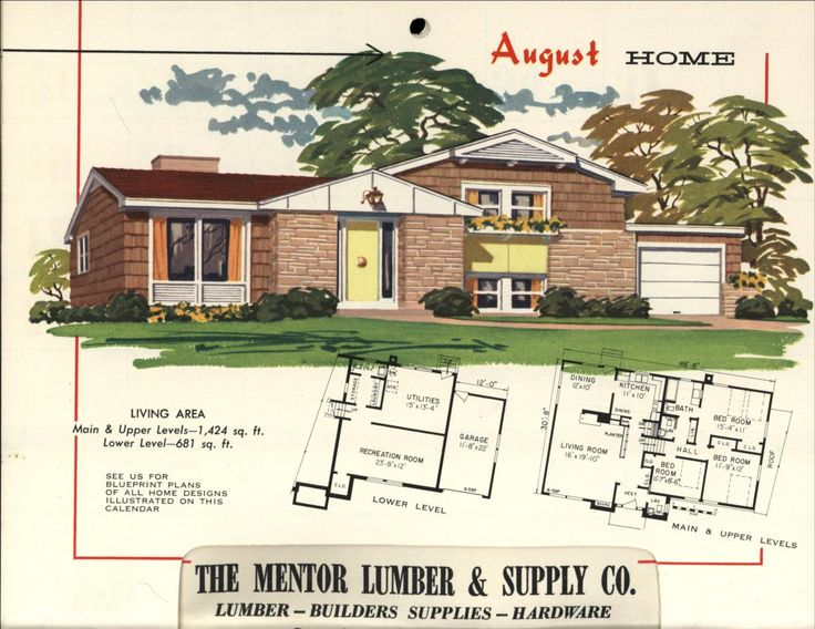 864 best houses mcm and ranch images on pinterest for 1950s ranch house plans