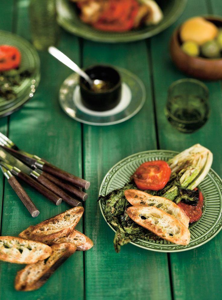 Recette de Ricardo de salade de laitue romaine grillée au barbecue