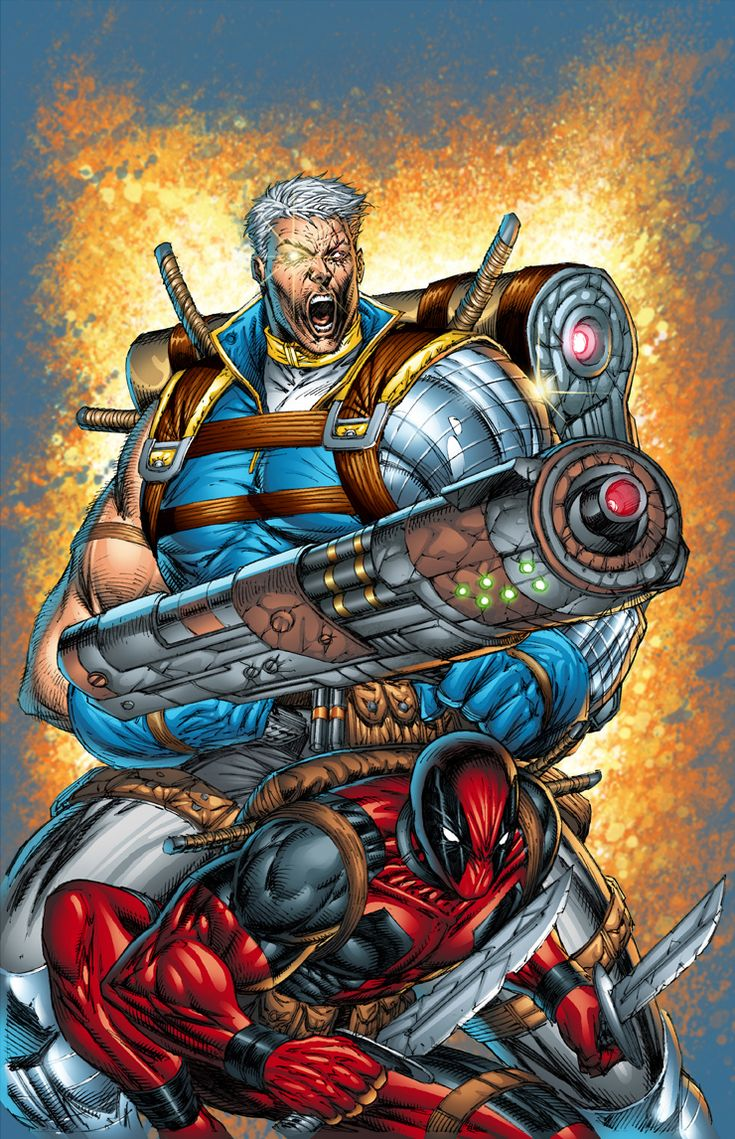 Cable and Deadpool °  by Rob Liefeld...one of the best comic book creators ever!