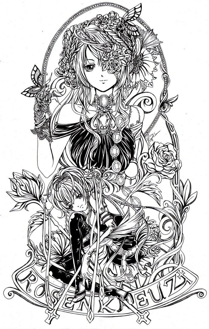 anime coloring pages deviantart outgoing - photo#26