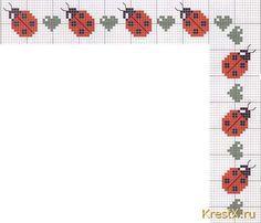 coccinelle - ladybird - point de croix - cross stitch - Blog : http://broderiemimie44.canalblog.com/