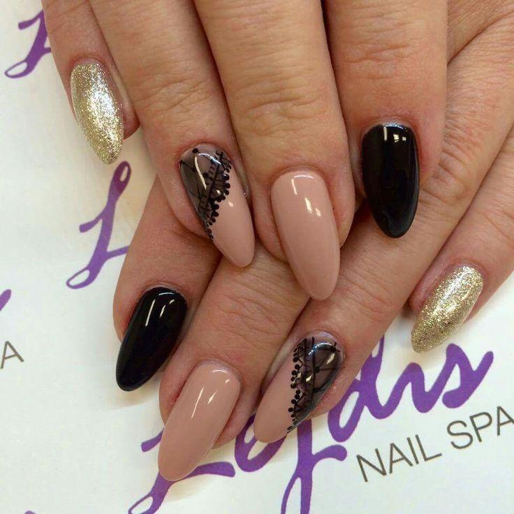Golden Nail Salon: SPN: UV LAQ 628 Golden Eye, 503 Black Tulip, 580 Fedora