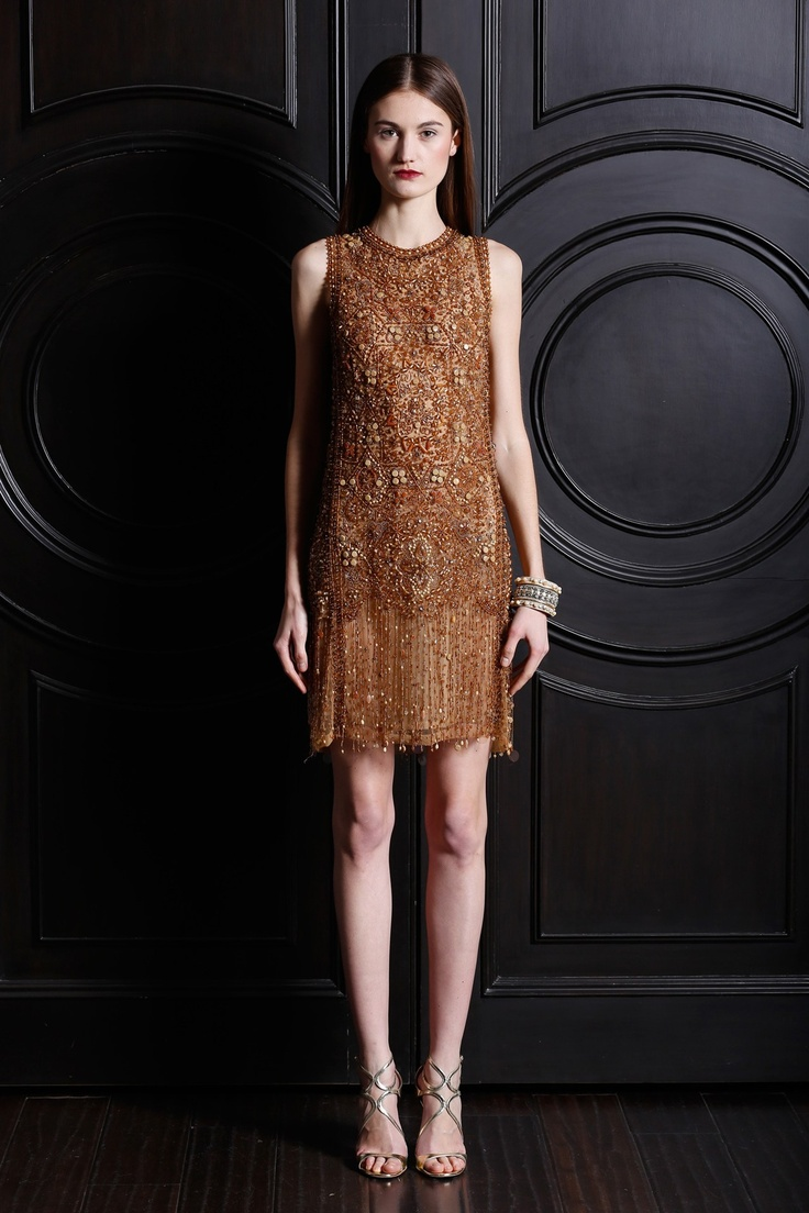 Naeem Khan #dress #beaded #embellished #pattern