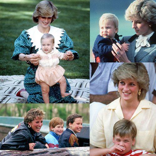Una mirada a la idílica infancia del príncipe Guillermo al lado de su madre, la princesa Diana #realeza #royals #princess #princesa