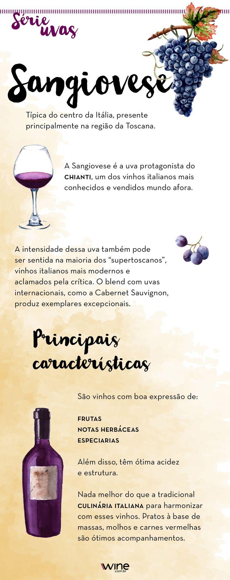 Conheça a uva Sangiovese, famosa por conta do protagonismo do vinho Chiante. #wine #vinho #sangiovese #uva