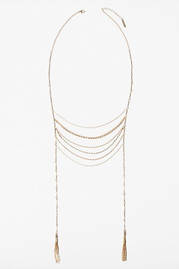 Long Chain Statement Necklace