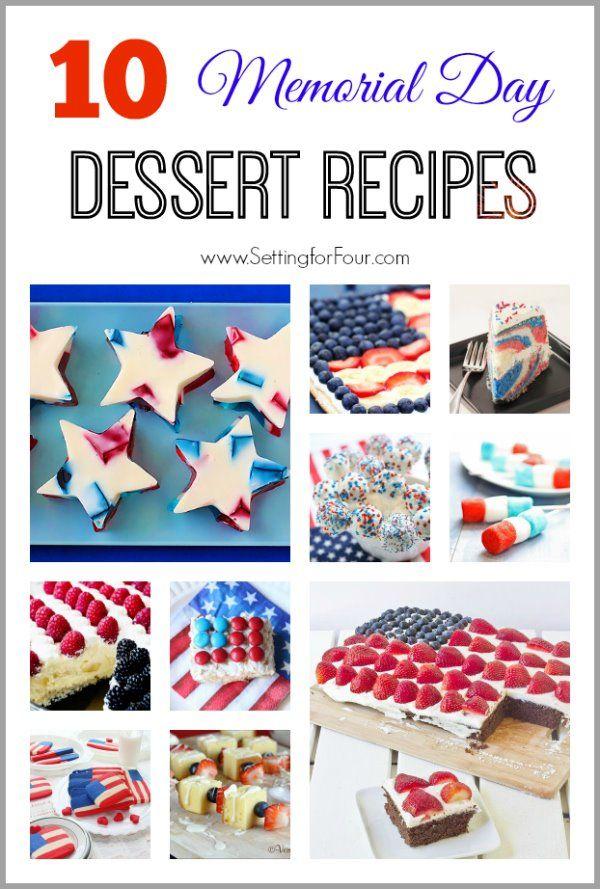 10 Memorial Day Dessert Recipes - Setting for Four