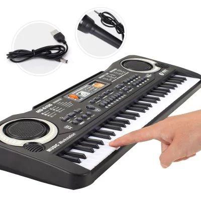 Electronic Organ  - $21.99 (16% OFF) 🔥  Multi-function 61 Keys Keyboard Electronic Organ with Microphone Music Simulation Piano Children Toys - BLACK  #Electronic, #Organ, #орган, #gearbest  7676