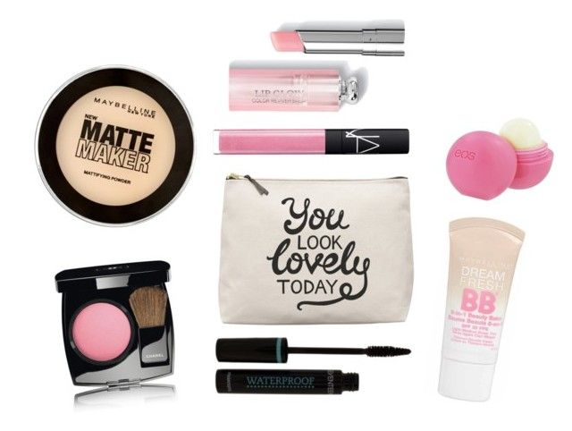 Bez tytułu #12 by daisyfashionlife on Polyvore featuring uroda, Chanel, NARS Cosmetics, Maybelline and Eos
