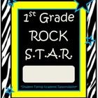 Need folder or binder covers? These covers come in various colors for your Rock Stars. These are made for 1st grade. Check my store for other grade...