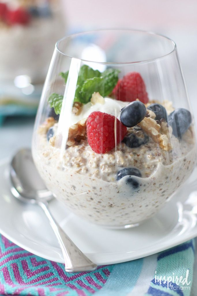 Overnight Oats for Two | inspiredbycharm.com