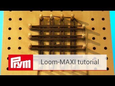 Prym's wooden loom board for creative loom work | Prym Loom MAXI - YouTube