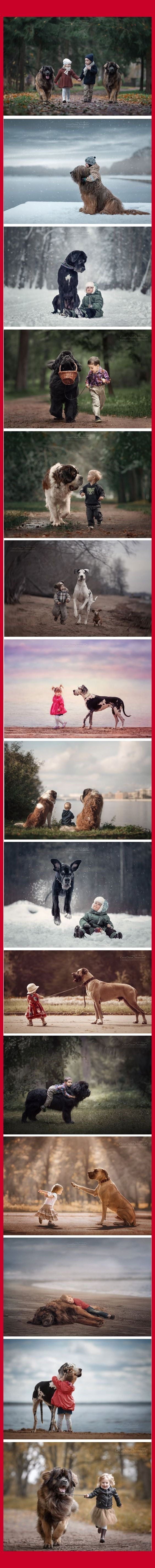 LITTLE KIDS + BIG DOGS photographer Andy Seliverstoff by​ James Gould-Bourn via: www.boredpanda.com/little-kids-big-dogs-photography-andy-seliverstoff/?cexp_id=1124